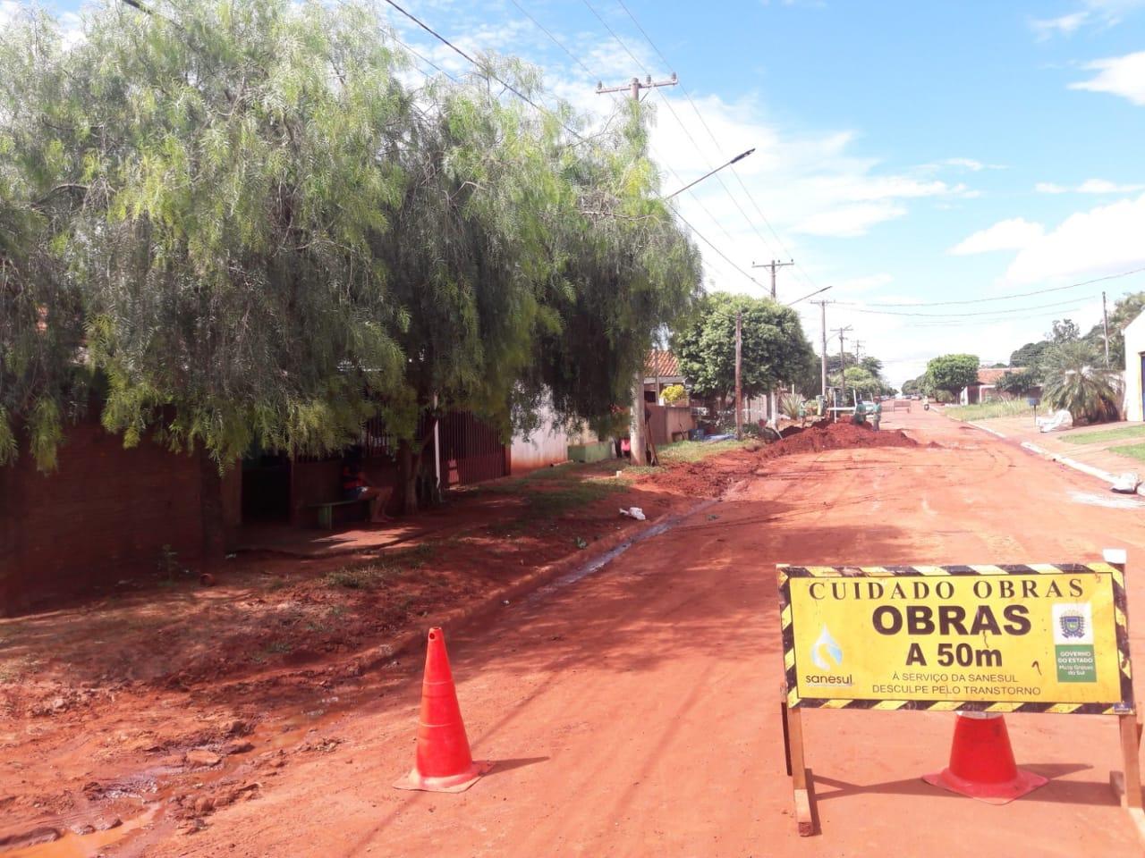 Sanesul executa obras em Deodápolis e Santa Rita do Pardo