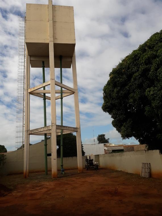 Reservatório elevado na cidade de Eldorado.